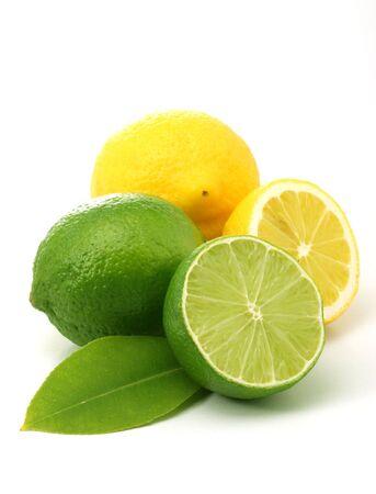 레몬 및 녹색 라임 스톡 콘텐츠