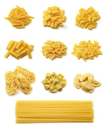 Italian pasta collection Stok Fotoğraf