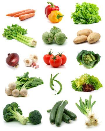 Groenten, collectie Stockfoto