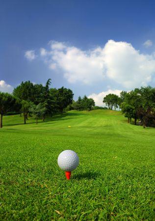Golfbaan Stockfoto