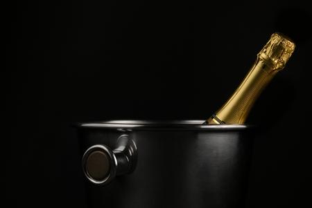 バケツをシャンパン 写真素材