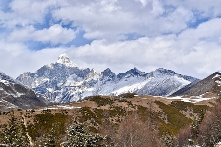 Mount Siguniang - 6 250 meters above sea level, Sichuan, China 写真素材