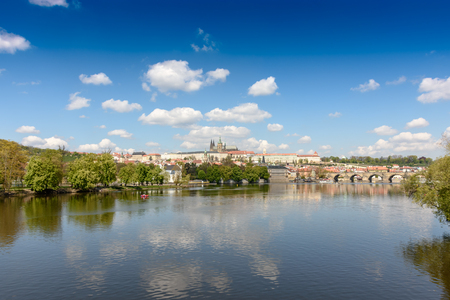 most popular: Beautiful view of the old town across the river.