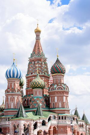 st: St Basils cathedral on Red Square, Moscow, Russia Editorial