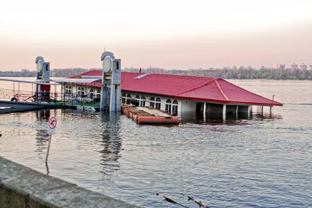 sunk: Sunken River restaurant on the Dnieper River in Kiev Ukraine