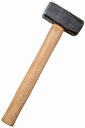Metal sledge hammer isolated on white background photo