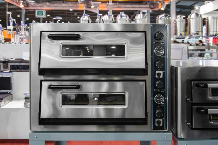 double oven: Electric oven in the exhibition hall