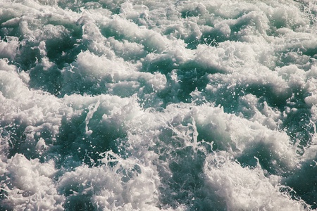 seething: Seething sea surface covered with white foam