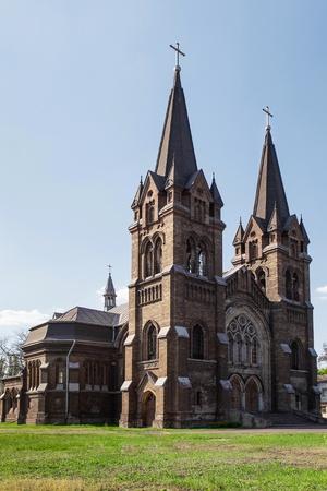 confessor: Roman Catholic Church of St  Nicholas in Dneprodzerzhinsk, Ukraine, built in the 19th century