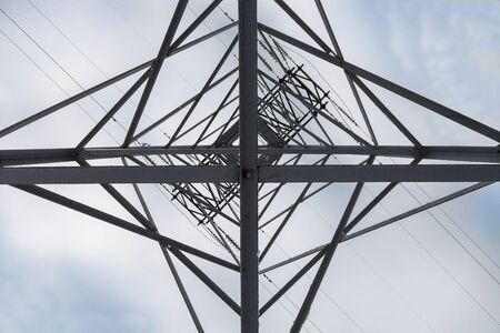 reliance: Reliance power line, bottom view, constructivist background