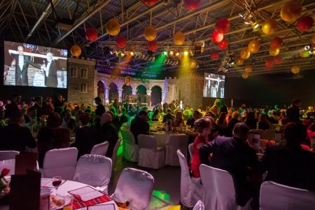 Kiew, Ukraine, 9. März: Burns Night, ein Charity-Event widmet sich der schottische Dichter Robert Burns in Kiev, Ukraine, March 9, 2013.General Blick