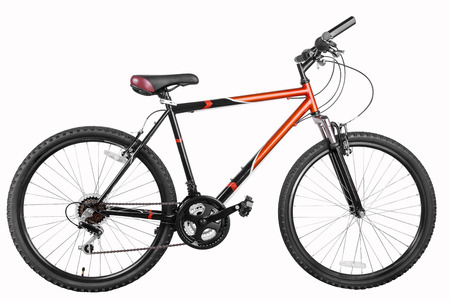 Mountain bicycle bike isolated on a white background with clipping paths, high resolution  stitched from five shoots