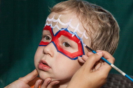 bodyart: Boy with Painted Face Hero Style
