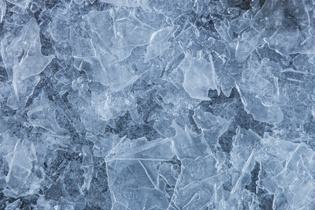 ice surface: Texture ice surface of a mountain river close up