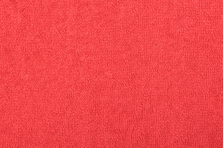 Abstract background with red texture, terry cloth fabric, full