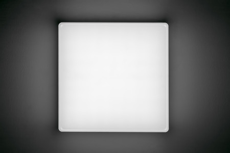 LED lamp hanging on the ceiling, bottom view