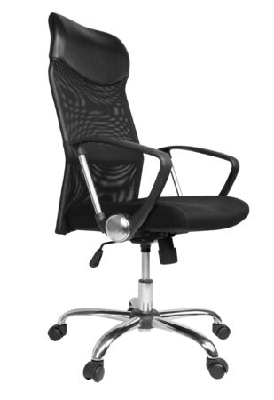 Office chair isolated on white background, clipping paths included