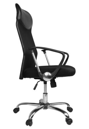 Office chair isolated on white background, side view, clipping paths included