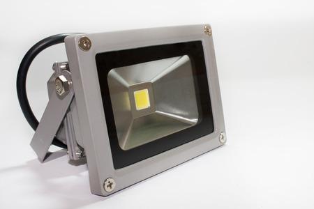 LED strobe light reflector in metal housing