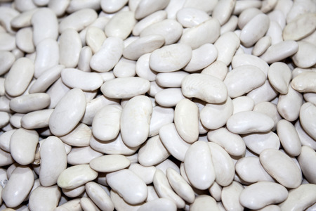white beans: White beans in a pile on the table