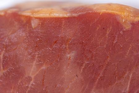 Smoked cured sirloin closeup macro background meat Фото со стока