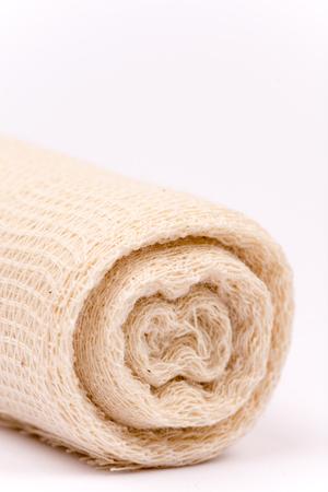 immobilize: Medical bandage roll isolated on white background Stock Photo