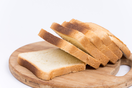 Fresh toast bread isolated on the white background