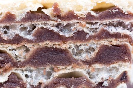 自家製のチョコレート ウエハース マクロ写真撮影クローズ アップ食品