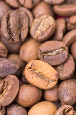 grained: Extreme macro coffee beans background closeup drink