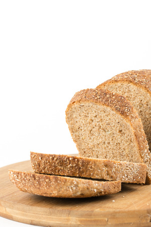 Healthy chrono bread isolated over white background