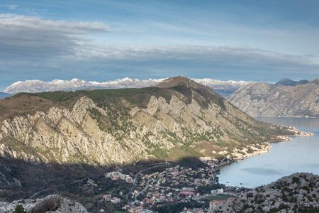 kotor: Kotor bay Tivat Adriatic sea mountains Stock Photo