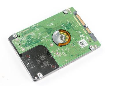 sata: Sata hard disc electronics isolated over white background.