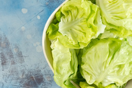 Fresh Raw Lettuce Salad In The Bowl.