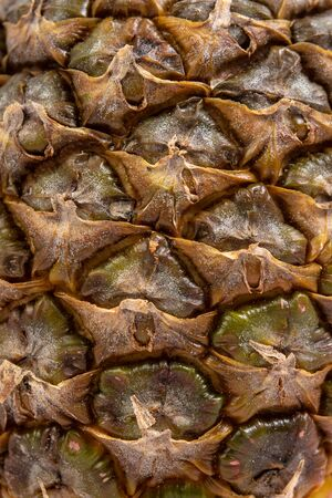 Closeup macro image of Pineapple bark as background Imagens
