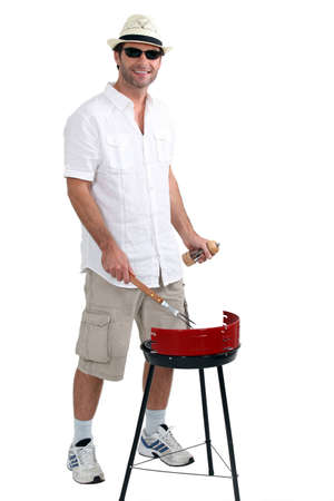man with a barbecue photo