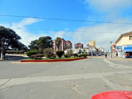 central street in seaside resort