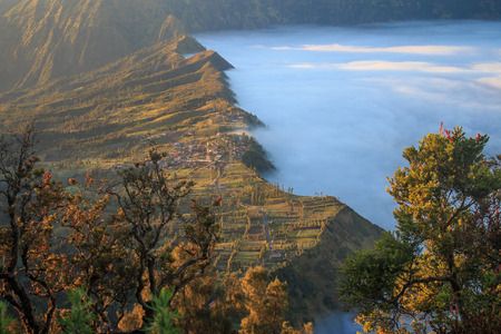 heavily: Bromo moutain with heavily fog