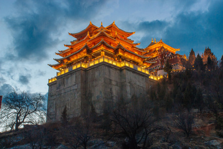 shangrila: Buddhist temple in Zhongdian ShangriLa China