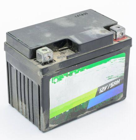 volt: 12 volt old battery Stock Photo