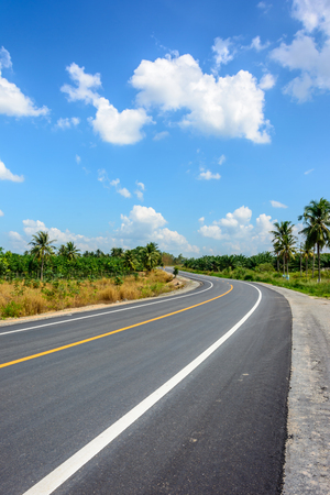 rural area: Road in the rural area