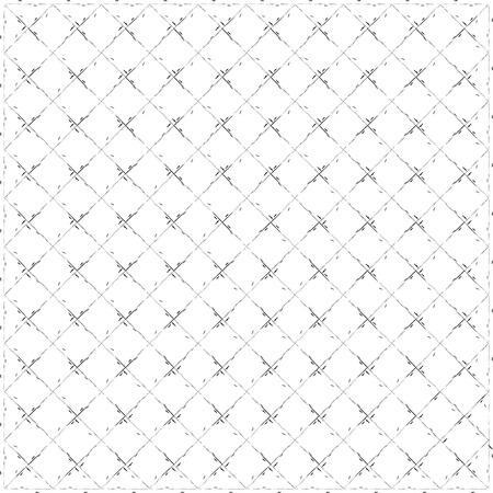 Noir et blanc motif carré fond. Répétition de formes de diamant. Résumé des motifs sans soudure. Vecteurs