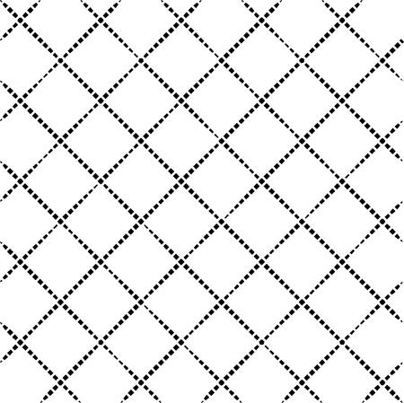 Noir et blanc motif carré fond. Répétition de formes de diamant. Résumé des motifs sans soudure.