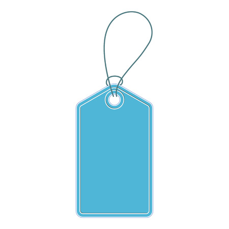 Vintage blue price tag. Price tag vector.