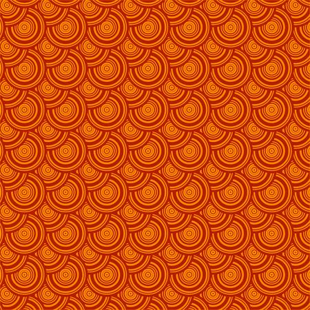 circle shape: Orange circle pattern background. Geometric shape vector. Illustration