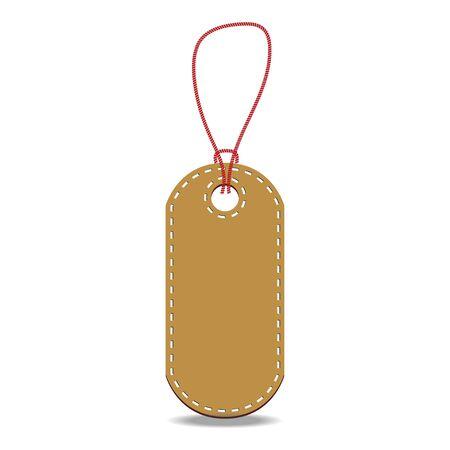 pricetag: Vintage brown price tag. Price label vector.
