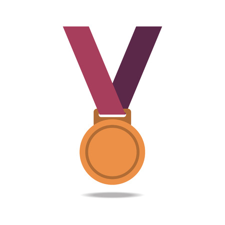 bronze medal: Bronze blank award medals with ribbons. Medal vector. Bronze medal icon.