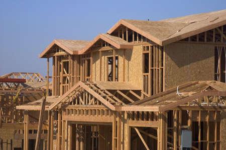 nieuwe huis en bouw Stockfoto