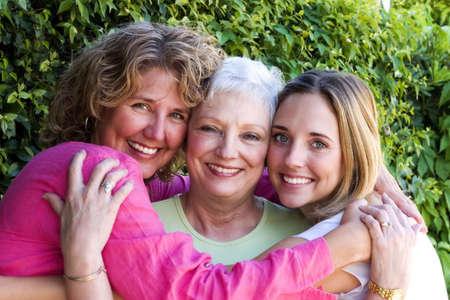 people listening: three generations of beauty