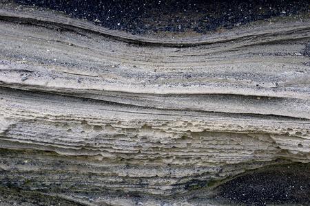 the deposits: Volcanic deposits. south korea, jeju island Stock Photo
