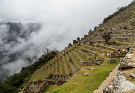 Machu Picchu is one of the New Seven Wonders of the World. Stock Photo